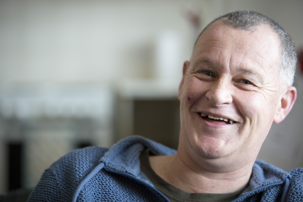 smiling man - foodbank client